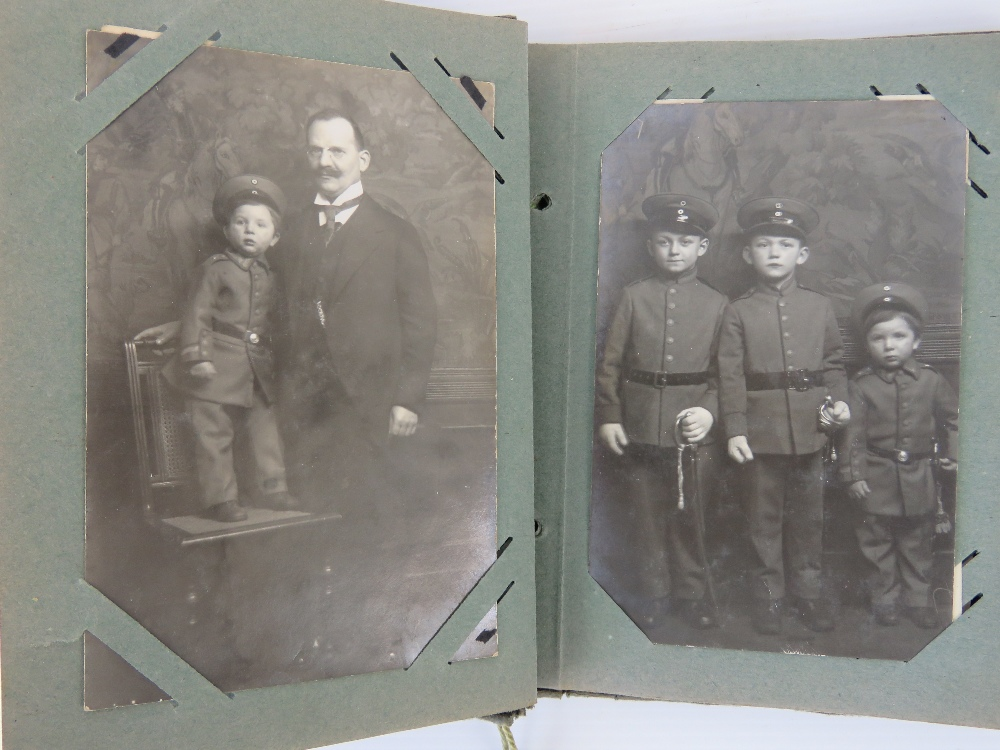 Lot 121 - A WWI German photo and postcard album in