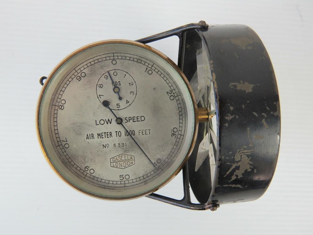 Lot 92 - An original Casella of London anometer l