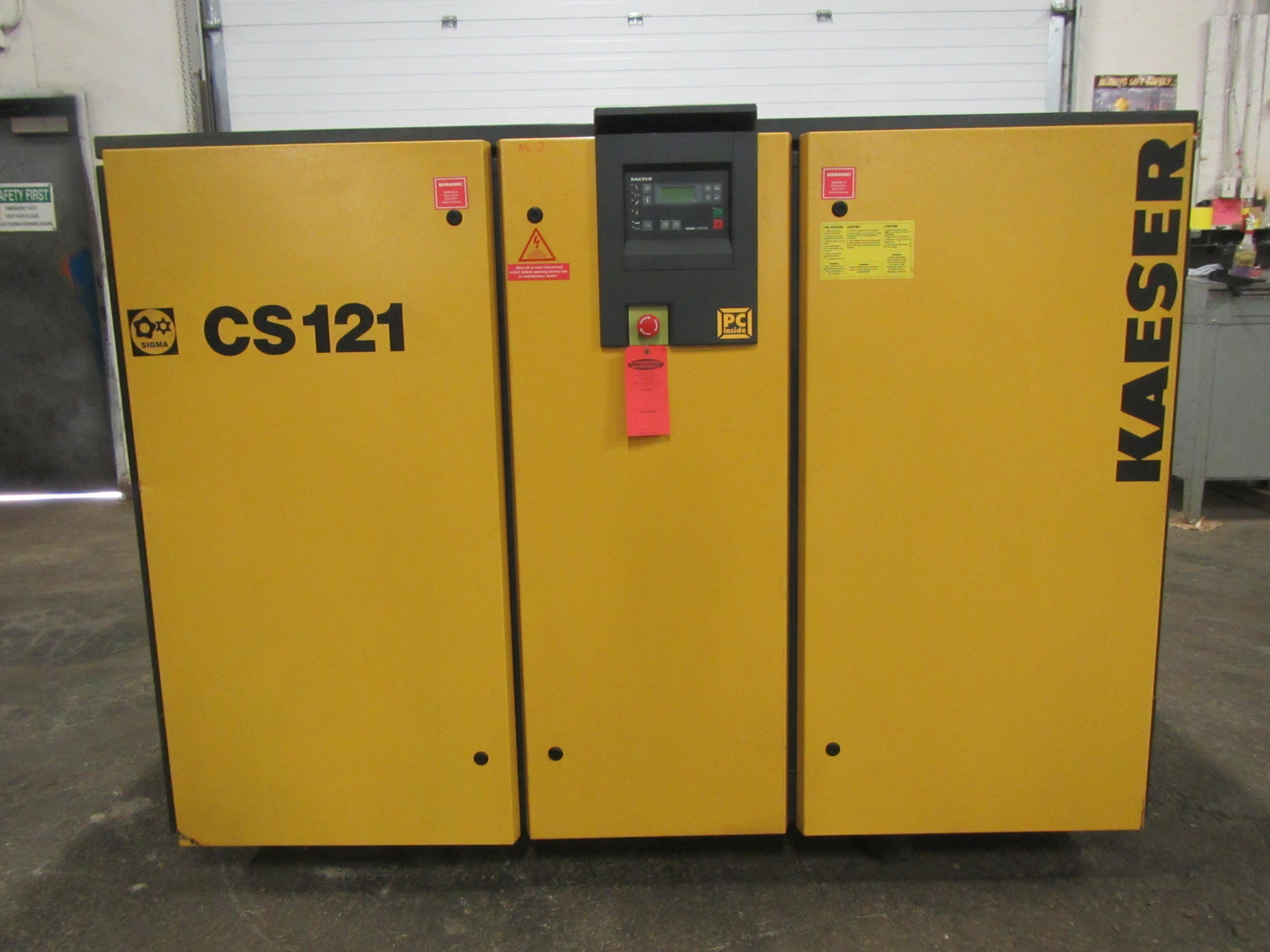 Lot 199 - Kaeser CS121 100HP Rotary Screw Air Compressor - 458 CFM