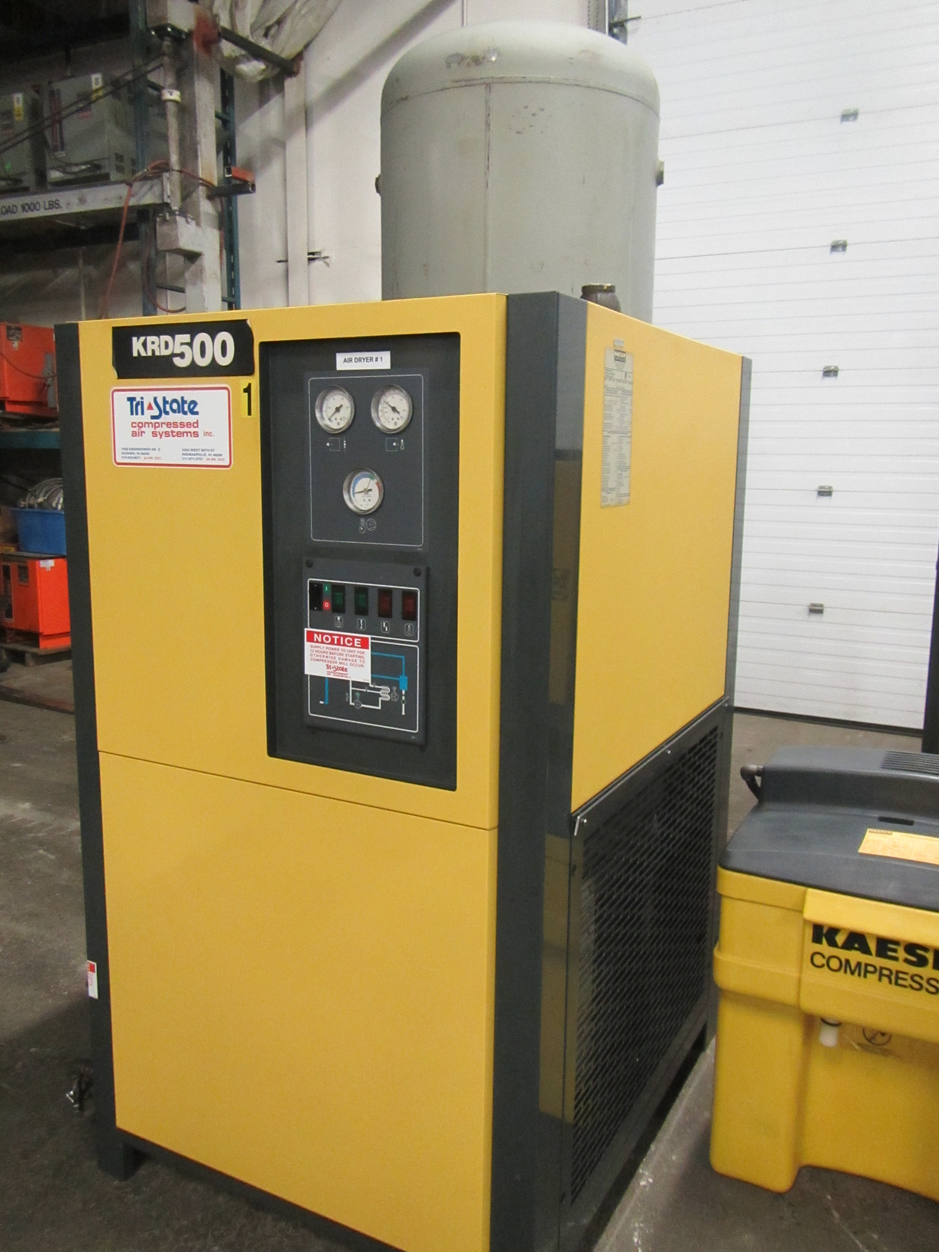 Lot 200 - Kaeser model KRD-500 500CFM Compressed Air Dryer