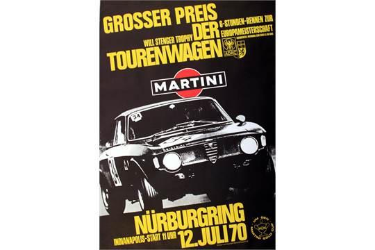Sport Posters Alfa Romeo GTA Grand Prix Original Vintage Car - Alfa romeo posters