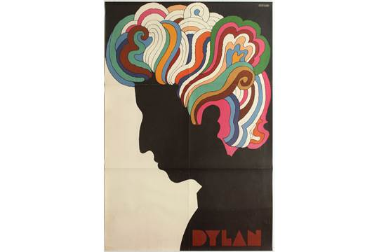 Advertising poster for the sleeve of the Greatest Hits Bob Dylan