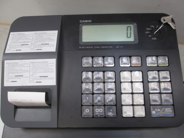 casio cash register se g1 manual
