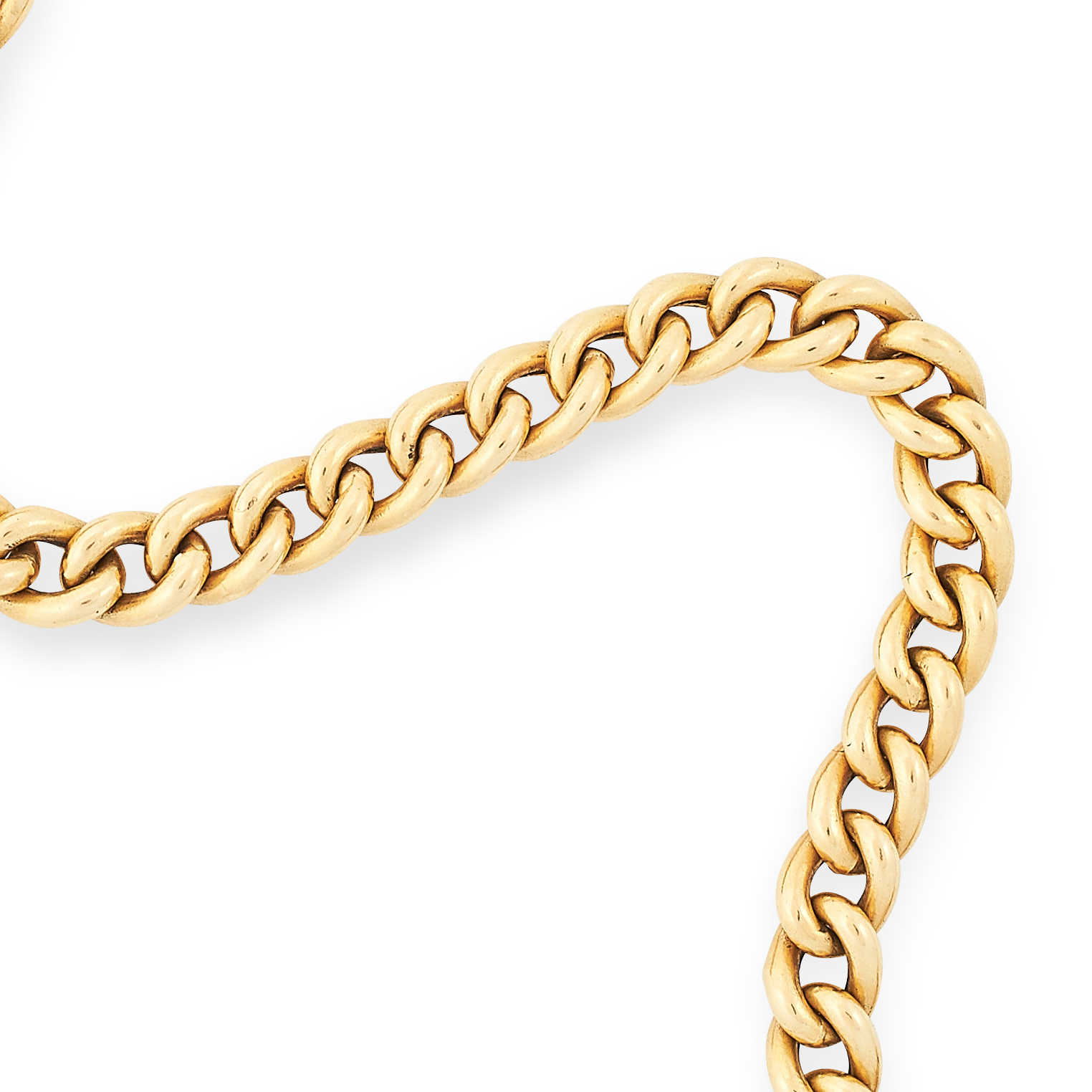 FANCY LINK BRACELET comprising of a row of textured curb links, 20cm, 16.8g. - Image 2 of 2