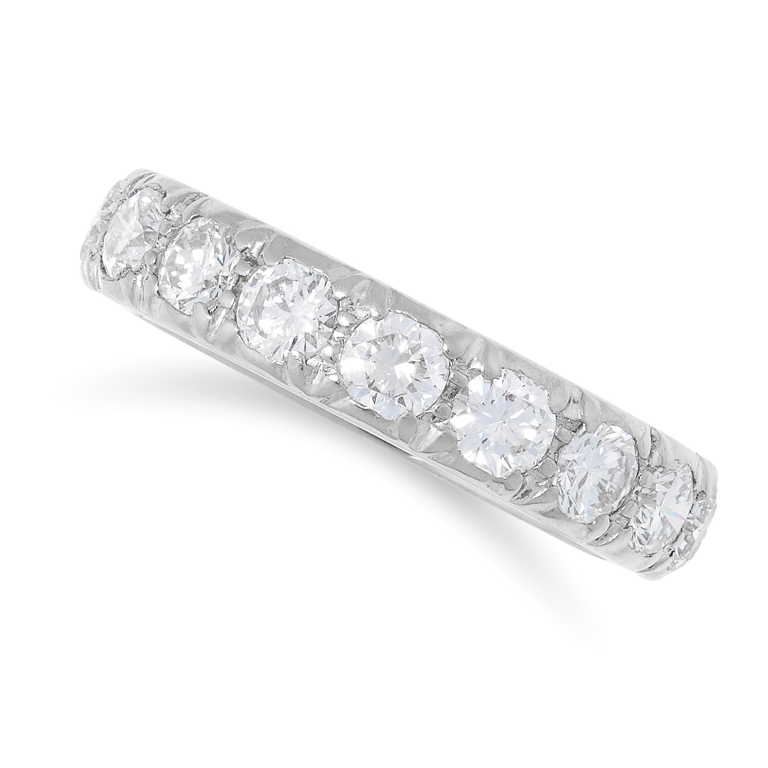 2.40 CARAT DIAMOND ETERNITY RING set with round cut diamonds totalling approximately 2.40 carats,