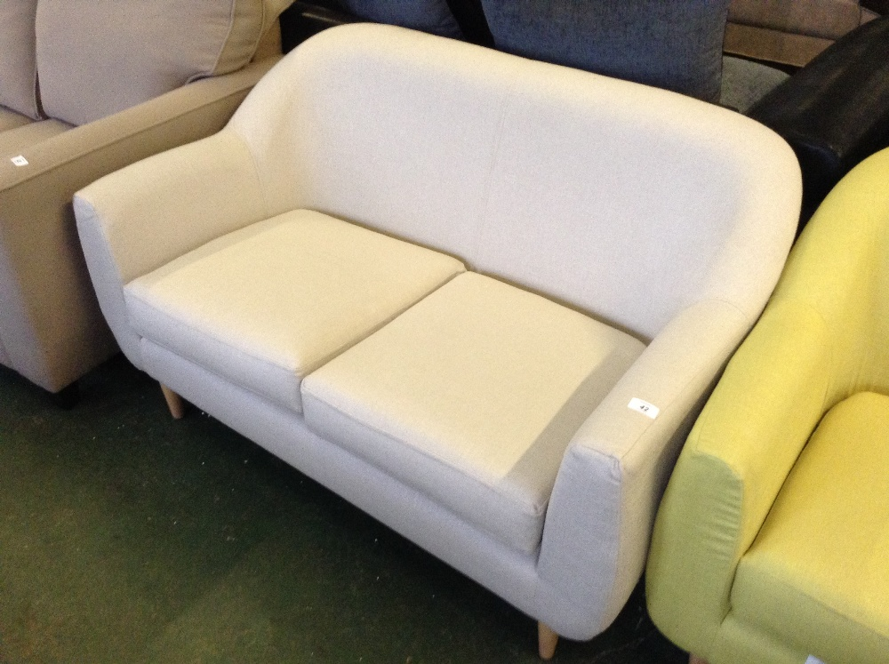 Lot 42  NATURAL 2 SEATER TUB SOFA 4469/28