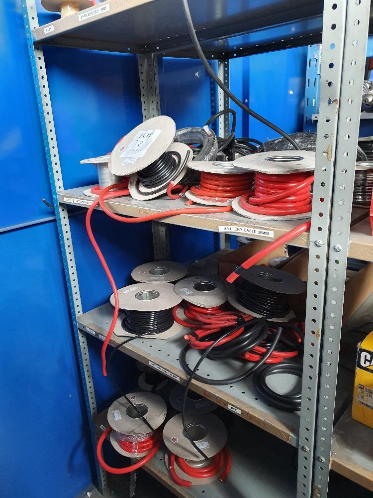 Lot 32 - Rack containing assorted copper cable