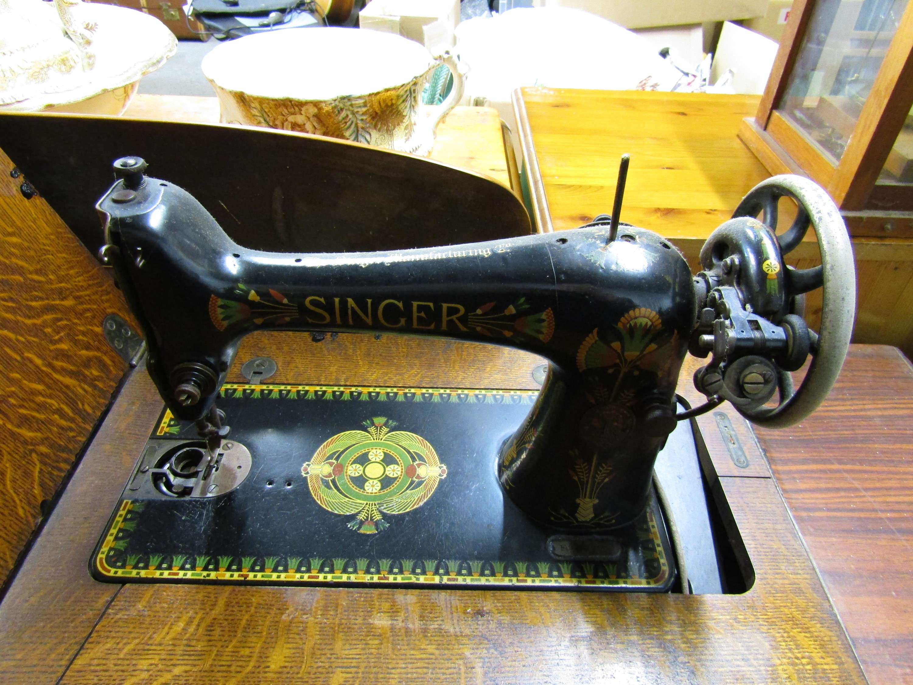 Lot 40 - A Singer treadle sewing machine