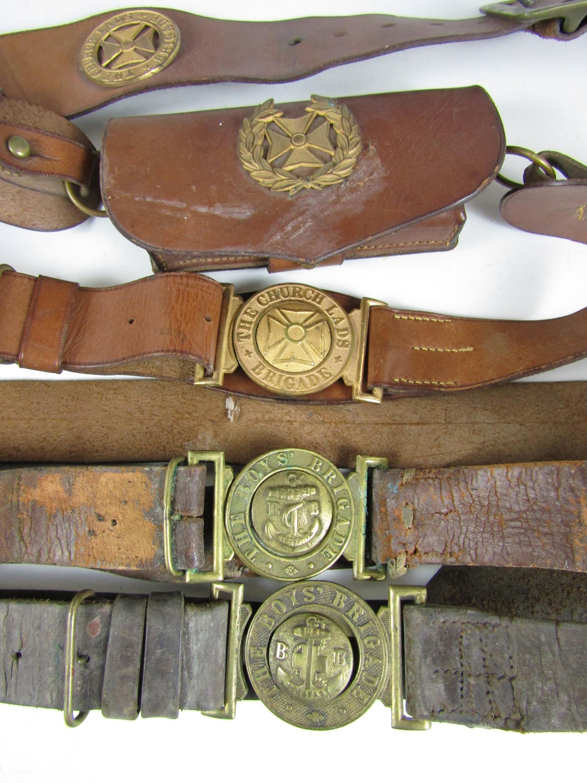 Lot 53 - Vintage Boys' Brigade leather belts