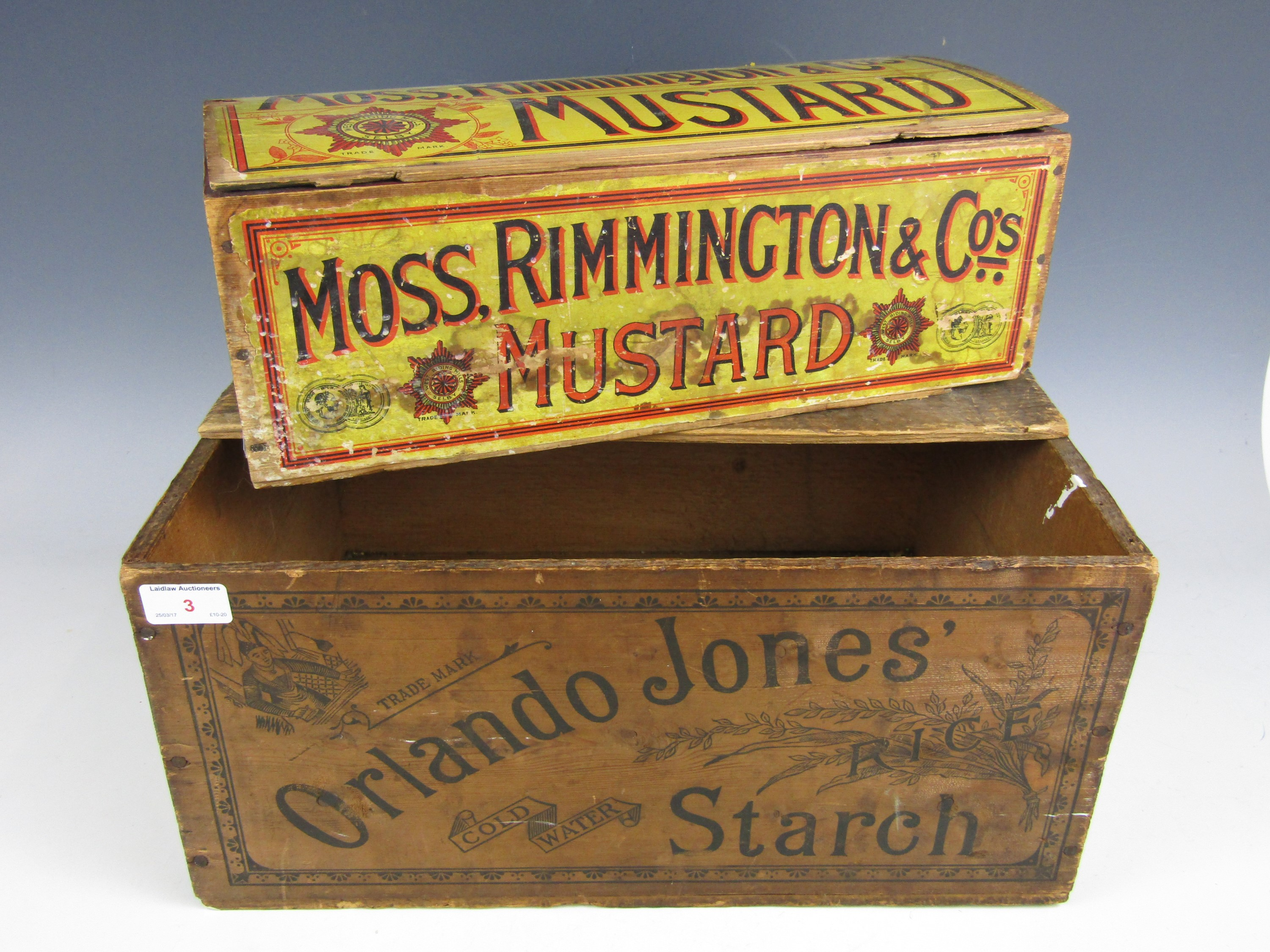 Lot 3 - Two vintage advertising boxes