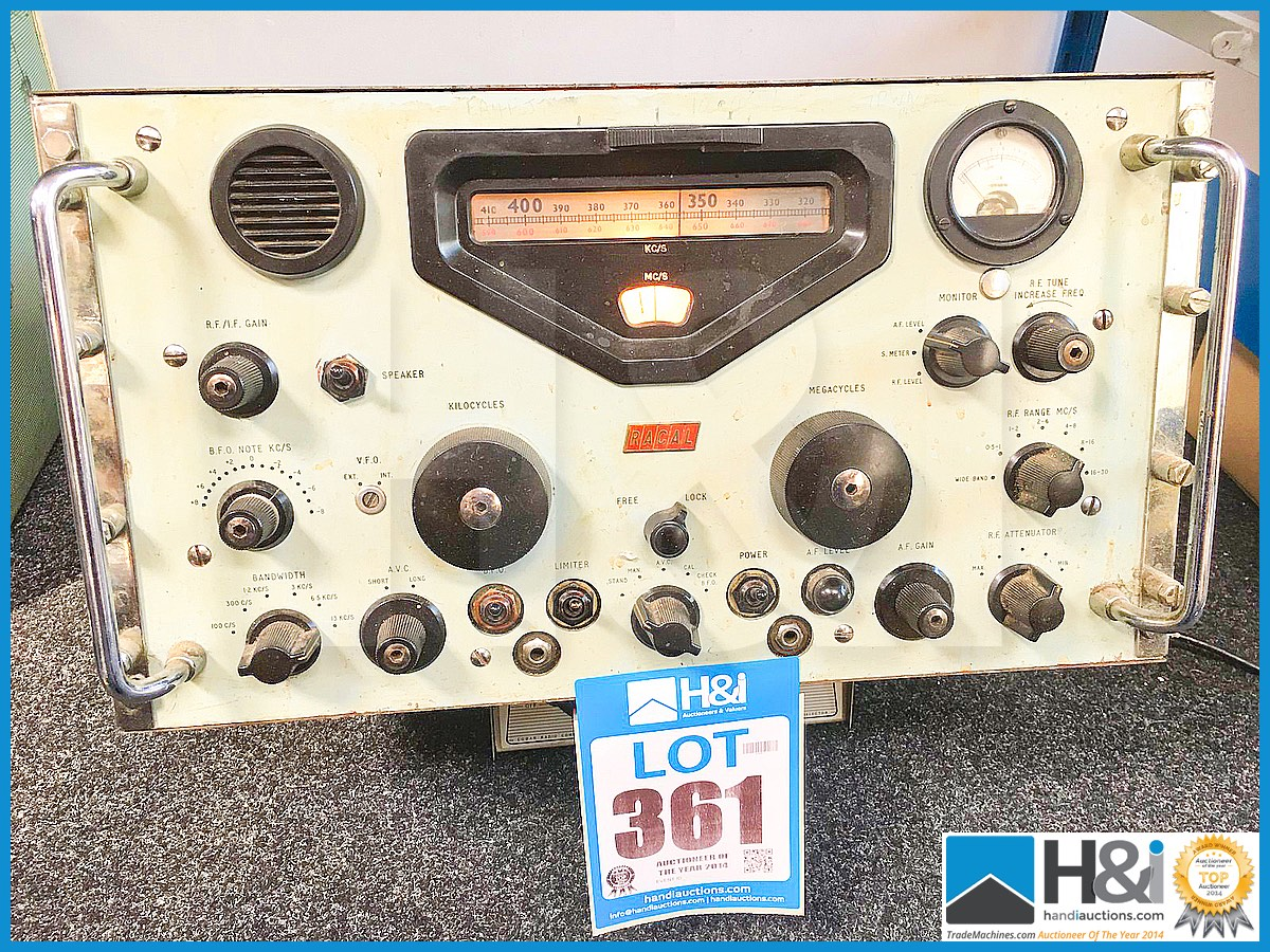 Lot 361 - Vintage Racal radio receiver.