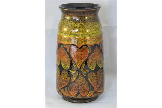 A Large Poole Pottery Aegean Vase Impressed Mark And Sign Of The