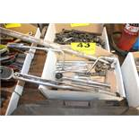 TORQUE WRENCH, ASSORTED RATCHETS & EXTENSIONS IN BOX