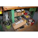 ASSORTED ELECTRICAL HARDWARE UNCER BENCH