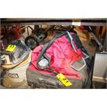 LARGE HUSKY PORTABLE TOOL BAG, FULL WITH ASSORTED BAGS