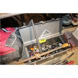 TRUE TEST TOOL BOX WITH CONTENTS, ASSORTED SPRING CLAMPS