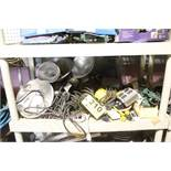 LARGE QTY OF LIGHTS & ELECTRICAL PLUGS