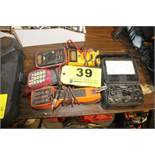 SIMPSON MODEL 260 ANALOG MULTIMETER, (2) BUTT PHONES, (2) DIGITAL MULTIMETERS