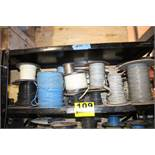 ASSORTED WIRE & COMMUNICATION CABLES ON SHELF