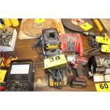 """MAC TOOLS 3/8"""" ELECTRIC IMPACT WRENCH W/(5) ASSORTED DEWALT & MILWAUKEE CHARGERS"""