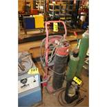 GAS TORCH CART WITH (1) TANK, GAUGES, HOSE & TORCH