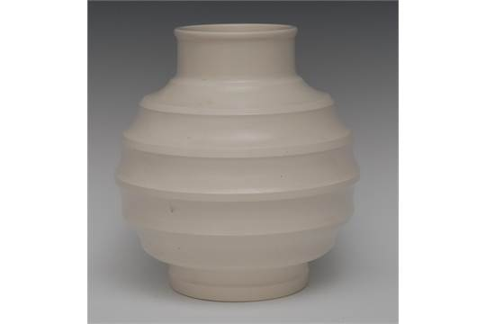 A Wedgwood Vase In The White Designed By Keith Murray 185cm High