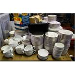 LARGE QUANTITY OF WHITE TABLEWARE