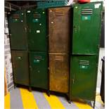 4 METAL STAFF CABINETS