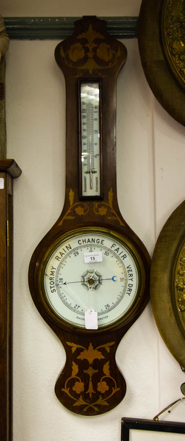 MARQUETRY INLAID BAROMETER