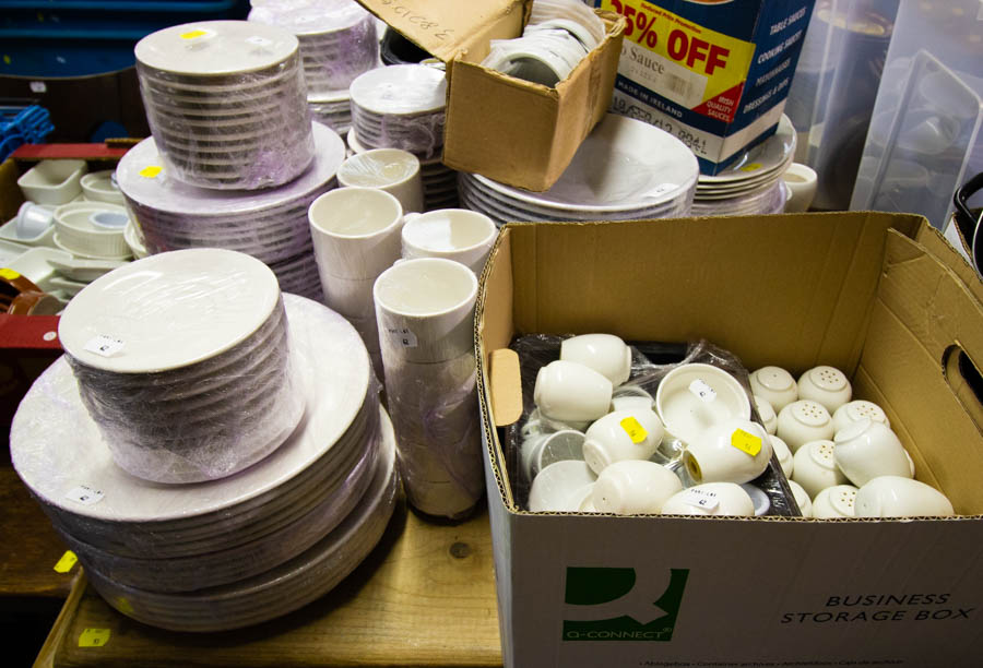 LARGE QUANTITY OF WHITE TABLEWARE - Image 2 of 2