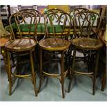 6 HIGH BENTWOOD CHAIRS