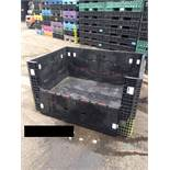 64x48x34 MIXED COLOR KNOCK DOWN PACKAGING CRATES, LOT 10