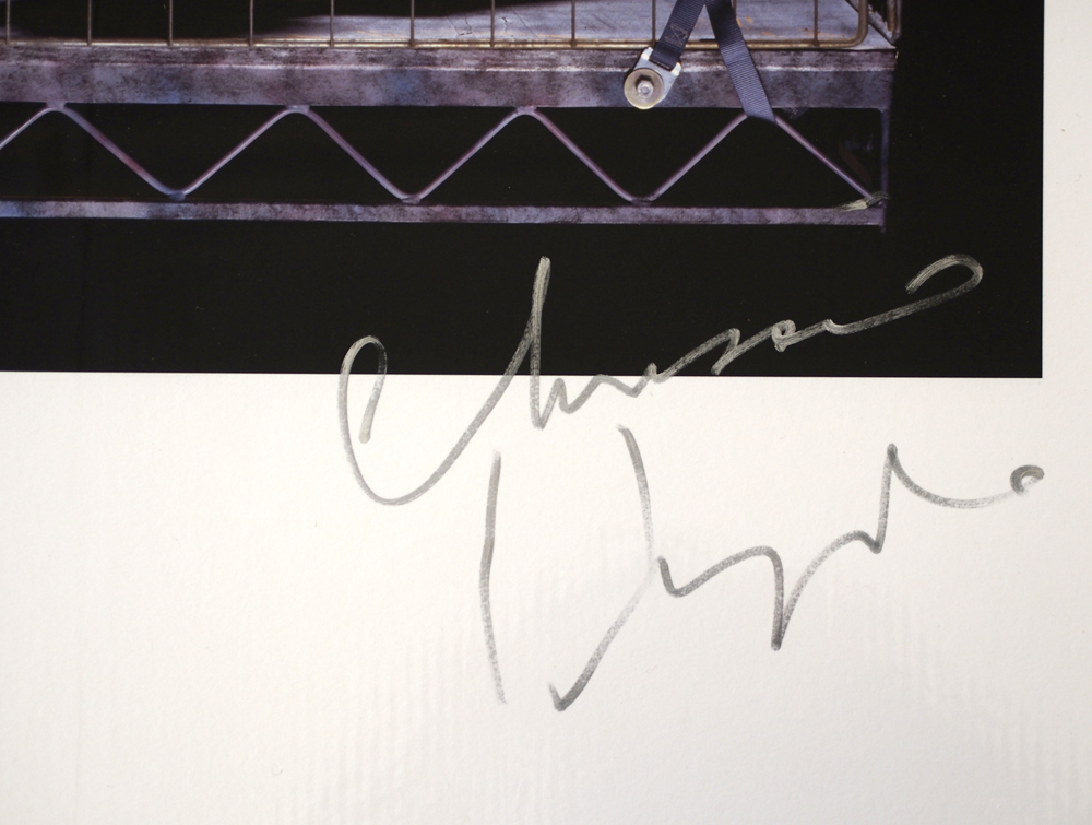 "Lot 7 - Artist: The Pretenders Photographer: Jill Furmanovsky Signed by: Chrissie Hynde Size: A2 16.5"" x"