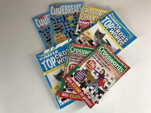 Lot 47 - Seven crates of puzzle books