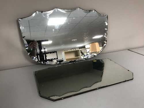 Lot 27 - Two un-framed mirrors