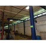 GORBEL GLMS-FS-4000 FREE STANDING MONORAIL GANTRY SYSTEM WITH 60' RUN, 12' BETWEEN UPRIGHTS, 11'