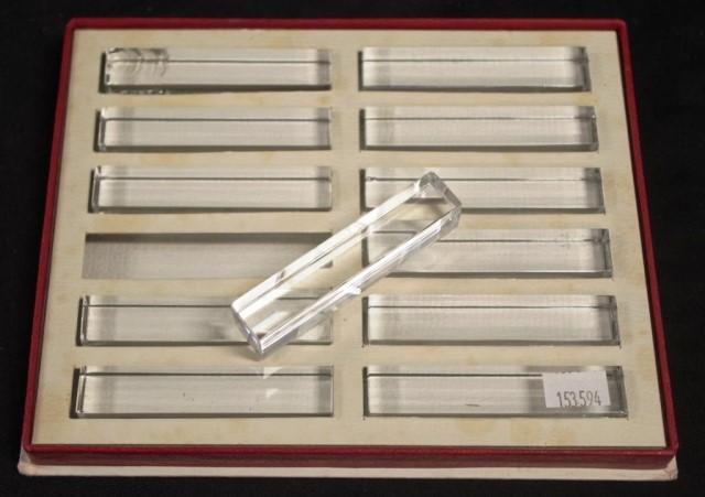 Boxed set twelve Baccarat crystal knife rests - Image 2 of 3