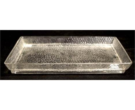 Baccarat crystal tray (length 31cm approx).