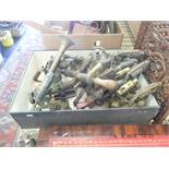 A quantity of brass vintage and antique blow torches etc
