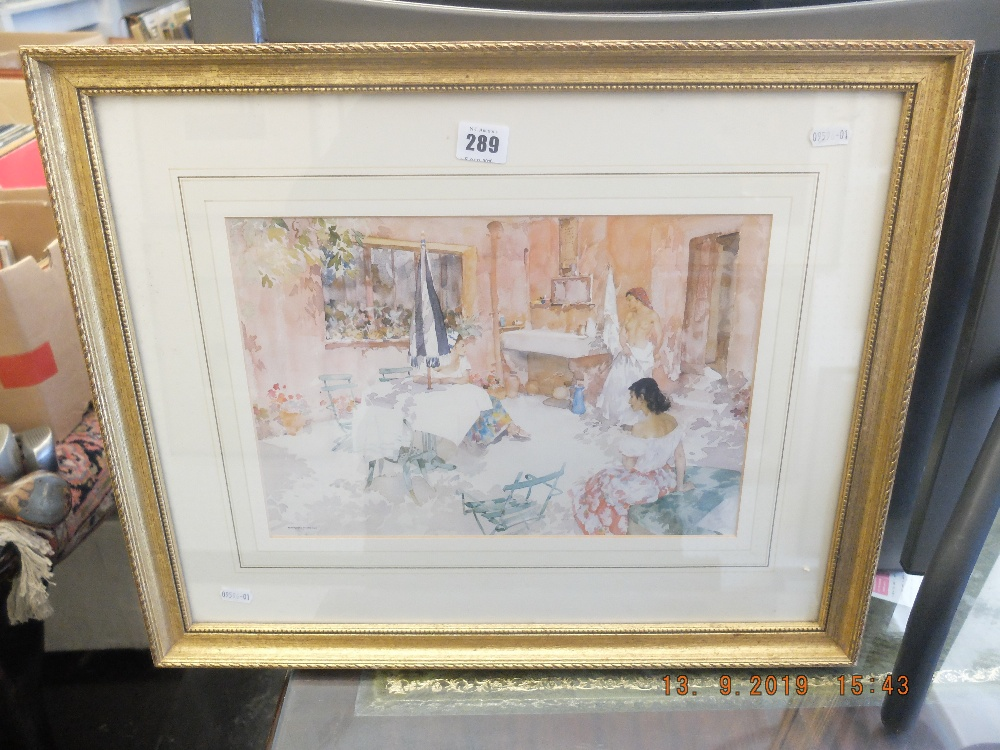 Lot 289 - A gilt framed Russell Flint print