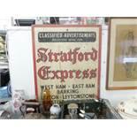 A Stratford express sign- not enamel