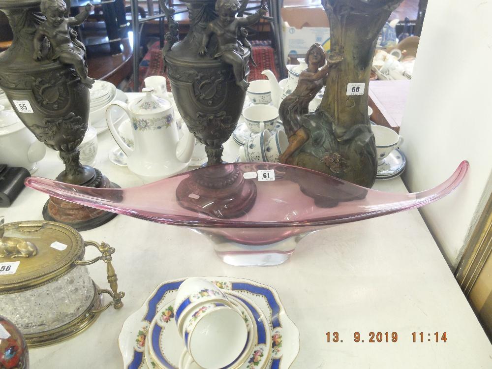 Lot 61 - A decorative Murano glass bowl
