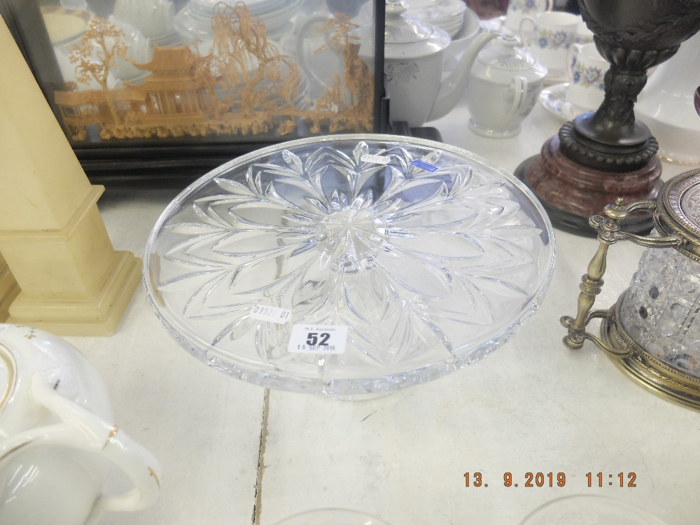 Lot 52 - A Waterford crystal cake stand stamped and with label in fine condition