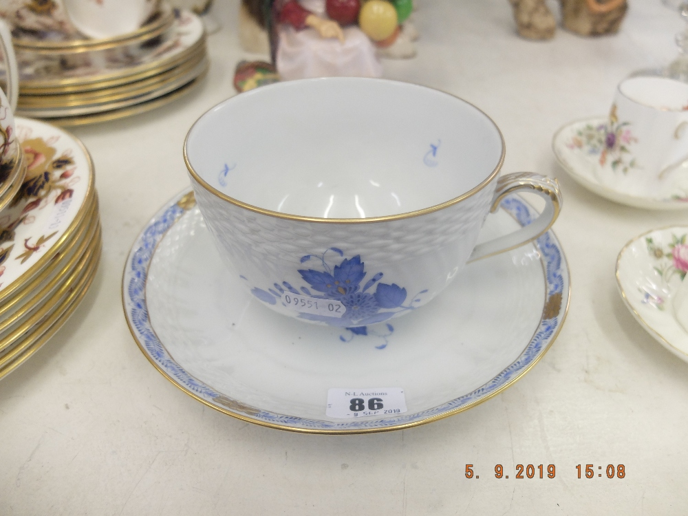 Lot 39 - A large hand painted Herrend porcelain duo