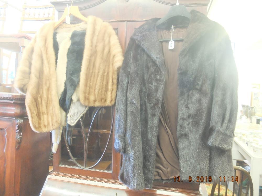 Lot 156 - A fur coat,
