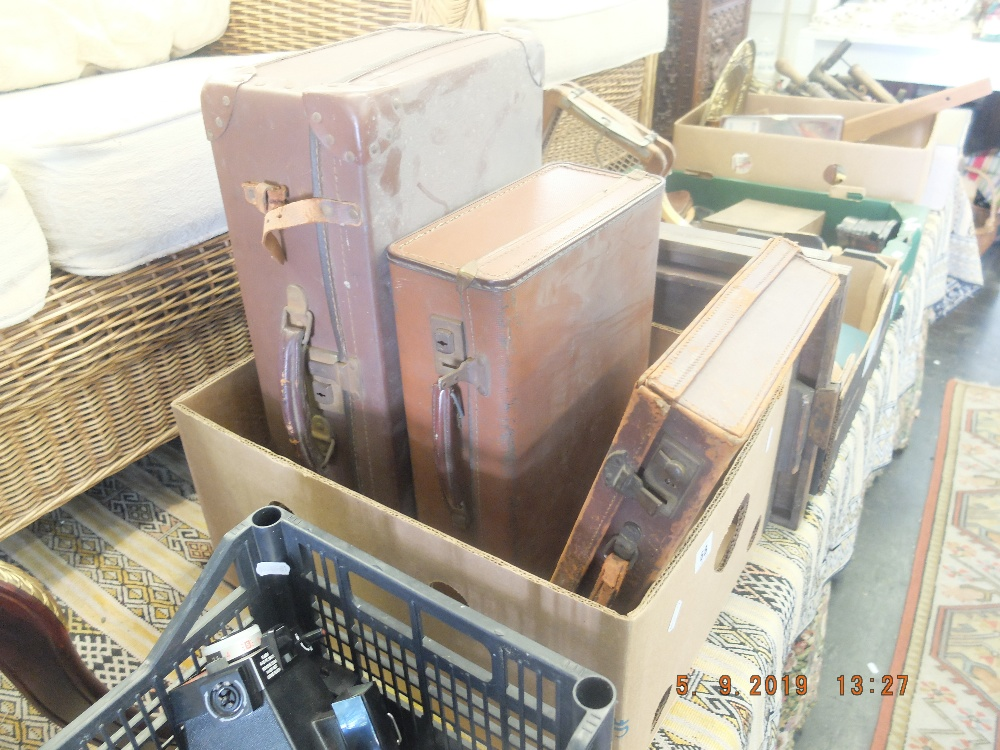 Lot 154 - Three old briefcases