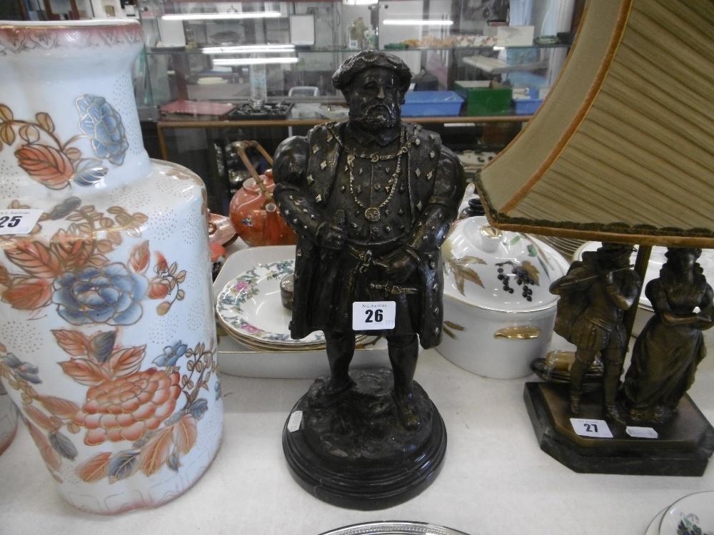 Lot 46 - A bronze sculpture of Henry VIII