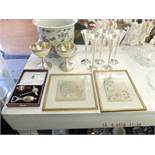 An assortment of items including Asprey and co bar set