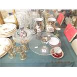 A quantity of assorted sundries including glass and china