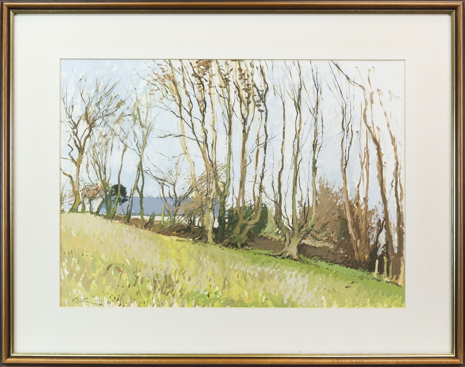 Lot 64 - WEST HEADS GARDEN, AN OIL ON BOARD BY DOUGLAS LENNOX